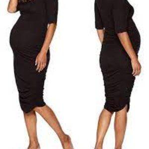 Motherhood Short Sleeve Bodycon Dress ( S )